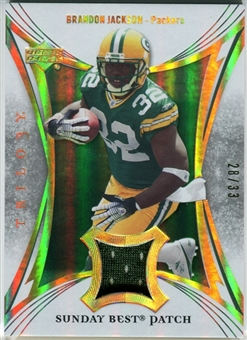 2007 Upper Deck Trilogy Sunday Best Jersey Patch Hologold #BJ Brandon Jackson /33