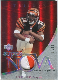 2007 Upper Deck Trilogy Supernova Swatches Patch #KI Kenny Irons /79