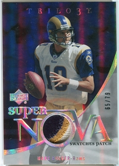 2007 Upper Deck Trilogy Supernova Swatches Patch #MB Marc Bulger /79