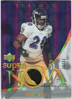 2007 Upper Deck Trilogy Supernova Swatches Patch Hologold #DJ Dwayne Jarrett /33