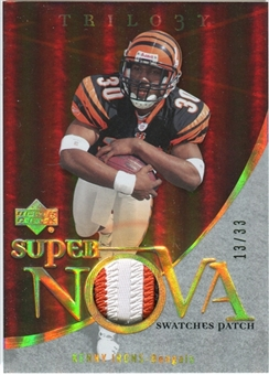 2007 Upper Deck Trilogy Supernova Swatches Patch Hologold #KI Kenny Irons /33