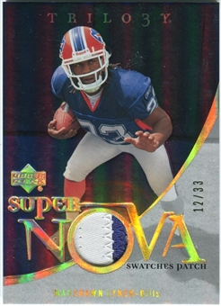 2007 Upper Deck Trilogy Supernova Swatches Patch Hologold #ML Marshawn Lynch /33