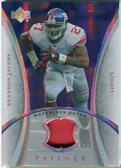 2007 Upper Deck Trilogy Materials Patch #BJ Brandon Jacobs /79