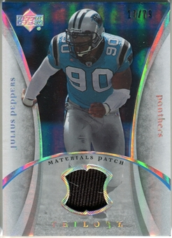 2007 Upper Deck Trilogy Materials Patch #JP Julius Peppers /79