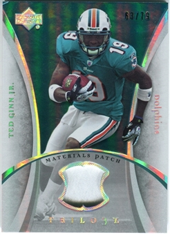 2007 Upper Deck Trilogy Materials Patch #TG Ted Ginn Jr. /79
