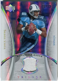 2007 Upper Deck Trilogy Materials Patch #VY Vince Young /79