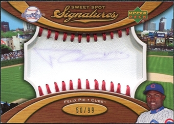 2007 Upper Deck Sweet Spot Signatures Red Stitch Blue Ink #FP Felix Pie Autograph /99