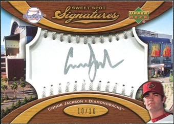 2007 Upper Deck Sweet Spot Signatures Silver Stitch Silver Ink #CJ Conor Jackson /16