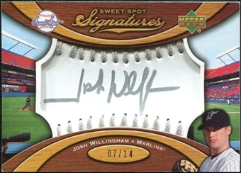 2007 Upper Deck Sweet Spot Signatures Silver Stitch Silver Ink #JW Josh Willingham 7/14