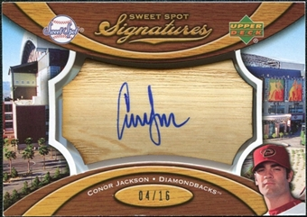 2007 Upper Deck Sweet Spot Signatures Bat Barrel Blue Ink #CJ Conor Jackson Autograph 4/16