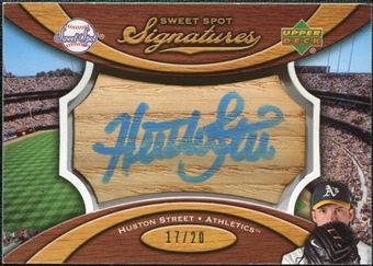 2007 Upper Deck Sweet Spot Signatures Bat Barrel Blue Ink #HS Huston Street Autograph /20