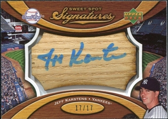 2007 Upper Deck Sweet Spot Signatures Bat Barrel Blue Ink #KA Jeff Karstens /17