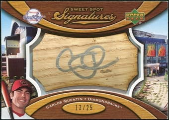 2007 Upper Deck Sweet Spot Signatures Bat Barrel Silver Ink #CQ Carlos Quentin /25