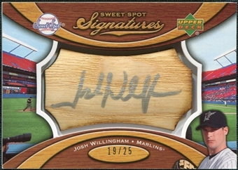 2007 Upper Deck Sweet Spot Signatures Bat Barrel Silver Ink #JW Josh Willingham Autograph /25