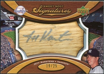 2007 Upper Deck Sweet Spot Signatures Bat Barrel Silver Ink #KA Jeff Karstens /25