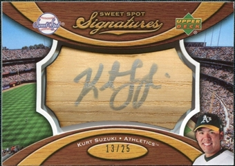 2007 Upper Deck Sweet Spot Signatures Bat Barrel Silver Ink #KS Kurt Suzuki Autograph /25