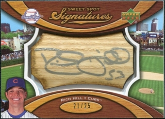 2007 Upper Deck Sweet Spot Signatures Bat Barrel Silver Ink #RH Rich Hill /25