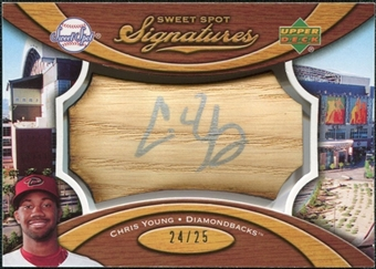 2007 Upper Deck Sweet Spot Signatures Bat Barrel Silver Ink #YG Chris B. Young /25