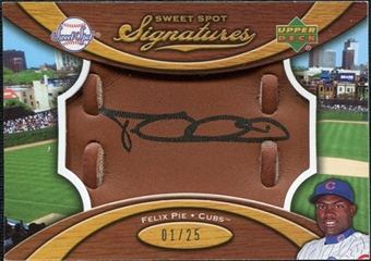 2007 Upper Deck Sweet Spot Signatures Glove Leather Black Ink #FP Felix Pie /25