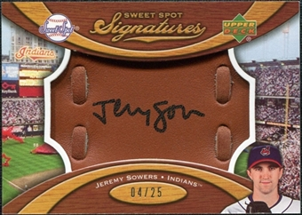 2007 Upper Deck Sweet Spot Signatures Glove Leather Black Ink #JS Jeremy Sowers /25