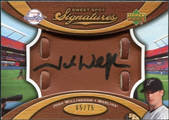 2007 Upper Deck Sweet Spot Signatures Glove Leather Black Ink #JW Josh Willingham Autograph /75