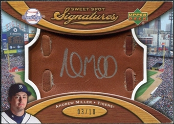 2007 Upper Deck Sweet Spot Signatures Glove Leather Silver Ink #AM Andrew Miller /10