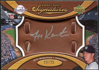 2007 Upper Deck Sweet Spot Signatures Glove Leather Silver Ink #KA Jeff Karstens /25