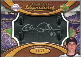 2007 Upper Deck Sweet Spot Signatures Black Glove Leather Silver Ink #GP Glen Perkins /25