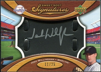 2007 Upper Deck Sweet Spot Signatures Black Glove Leather Silver Ink #JW Josh Willingham /25