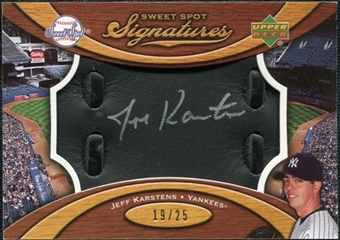 2007 Upper Deck Sweet Spot Signatures Black Glove Leather Silver Ink #KA Jeff Karstens /25