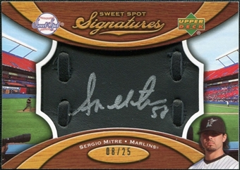 2007 Upper Deck Sweet Spot Signatures Black Glove Leather Silver Ink #SE Sergio Mitre /25