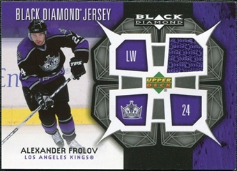 2007/08 Upper Deck Black Diamond Jerseys #BDJAF Alexander Frolov