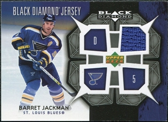 2007/08 Upper Deck Black Diamond Jerseys #BDJBJ Barret Jackman