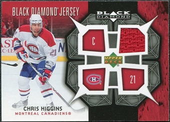 2007/08 Upper Deck Black Diamond Jerseys #BDJCH Chris Higgins