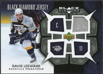 2007/08 Upper Deck Black Diamond Jerseys #BDJDL David Legwand