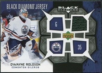 2007/08 Upper Deck Black Diamond Jerseys #BDJDR Dwayne Roloson