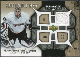 2007/08 Upper Deck Black Diamond Jerseys #BDJJG Jean-Sebastien Giguere