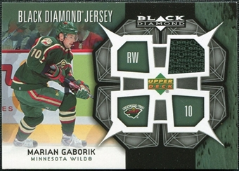 2007/08 Upper Deck Black Diamond Jerseys #BDJMG Marian Gaborik SP