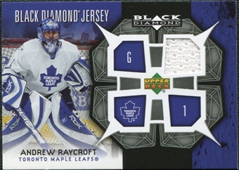 2007/08 Upper Deck Black Diamond Jerseys #BDJRA Andrew Raycroft