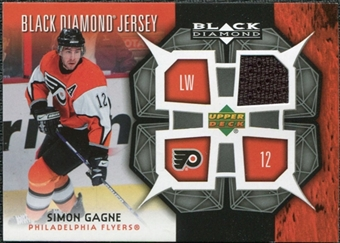 2007/08 Upper Deck Black Diamond Jerseys #BDJSG Simon Gagne