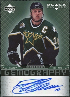 2007/08 Upper Deck Black Diamond Gemography #GBM Brenden Morrow Autograph