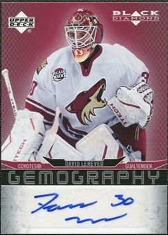 2007/08 Upper Deck Black Diamond Gemography #GDL David Leneveu Autograph