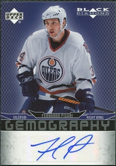 2007/08 Upper Deck Black Diamond Gemography #GFP Fernando Pisani Autograph