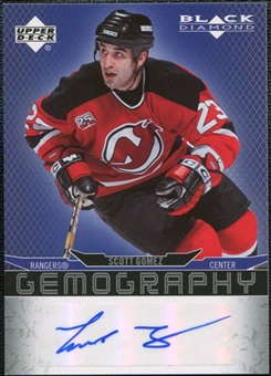 2007/08 Upper Deck Black Diamond Gemography #GGO Scott Gomez Autograph