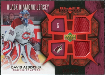 2007/08 Upper Deck Black Diamond Jerseys Ruby Dual #BDJAE David Aebischer /100