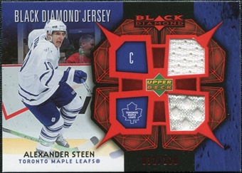 2007/08 Upper Deck Black Diamond Jerseys Ruby Dual #BDJAS Alexander Steen /100