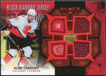 2007/08 Upper Deck Black Diamond Jerseys Ruby Dual #BDJAT Alex Tanguay /100
