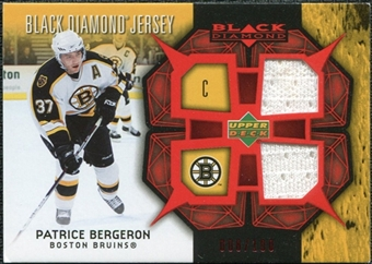 2007/08 Upper Deck Black Diamond Jerseys Ruby Dual #BDJBE Patrice Bergeron /100