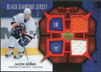 2007/08 Upper Deck Black Diamond Jerseys Ruby Dual #BDJBL Jason Blake /100
