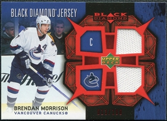 2007/08 Upper Deck Black Diamond Jerseys Ruby Dual #BDJBM Brendan Morrison /100